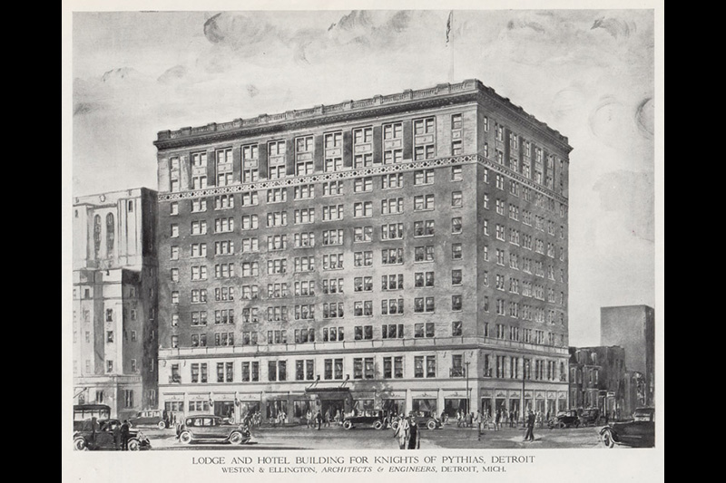 Postcard Showing The Hotel Fort Wayne And Masonic Temple